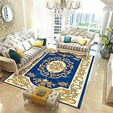 rug for living room Blue crystal velvet carpet