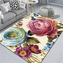 rug for living room Fuchsia carpet, soft