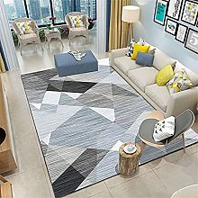 rug for living room Gray and blue low-pile carpet