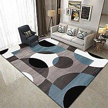rug for living room Gray Blue Carpet Rectangular