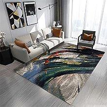 rug for living room Green carpet, ink pattern