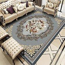 rug for living room Grey Retro Printed Carpet