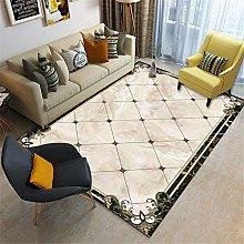 Rug For Living Room Large Vintage Marble Border