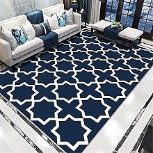 rug for living room Living room rug blue lines