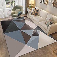 rug for living room Living room rug blue triangle
