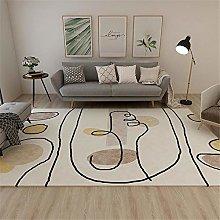 Rug For Living Room Minimalist Graffiti Stain