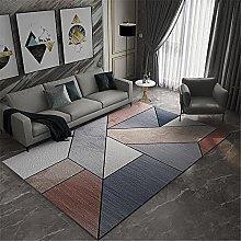 Rug For Living Room Modern Geometry Rugs Gray