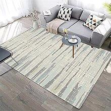 Rug For Living Room Non Slip Rug Yellow blue gray