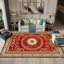 rug for living room Red Retro Carpet Living Room