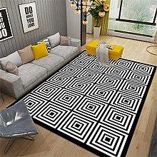 Rug For Living Room Rug For Bedroom Black white