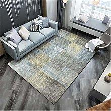 Rug For Living Room Soft Mottled Plaid Blurred