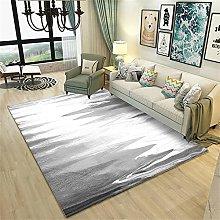 rug for living room Vintage carpet gray ink doodle