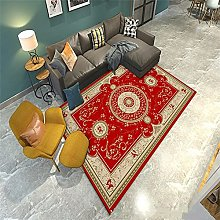 Rug For Living Room Washable Rugs Red print design