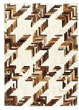 Rug Genuine Hair-on Leather Patchwork 120x170 cm
