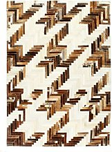 Rug Genuine Hair-on Leather Patchwork 160x230 cm