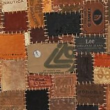 Rug Genuine Leather Jeans Label Patchwork 120x170
