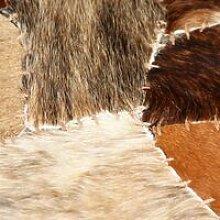 Rug Genuine Leather Patchwork 120x170 cm Random