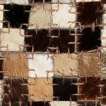 Rug Genuine Leather Patchwork 120x170 cm Square