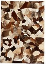 Rug Genuine Leather Patchwork 160x230 cm Random