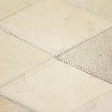 Rug Genuine Leather Patchwork 80x150 cm Diamond
