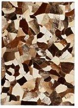 Rug Genuine Leather Patchwork 80x150 cm Random