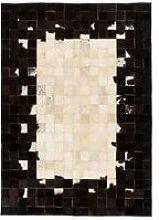 Rug Genuine Leather Patchwork 80x150 cm Square