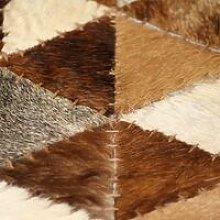 Rug Genuine Leather Patchwork 80x150 cm Triangle