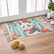 Rug Green Bamboo Panda Area Rugs Cotton Carpet