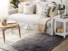 Rug Grey with Black 200 x 200 cm Ombre Effect