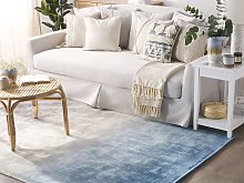 Rug Grey with Blue 140 x 200 cm Ombre Effect
