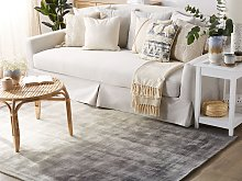 Rug Grey with Light Grey 200 x 200 cm Ombre Effect