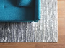 Rug Grey Wool and Polyester 160 x 230 cm Hand