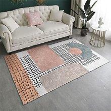 rug hallway Shaggy Geometric plaid pattern bedside