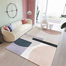 Rug home accessories living room Purple pink gray