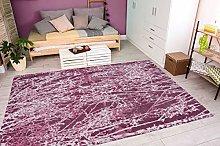Rug Jacquard Pink Purple for Children's Room