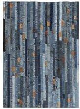 Rug Jeans Waistband Patchwork 120x170 cm Denim