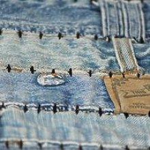 Rug Jeans Waistband Patchwork 80x150 cm Denim Blue