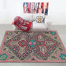 Rug living room accessories Pink blue brown retro