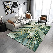 Rug living room carpets Green gray marble ink