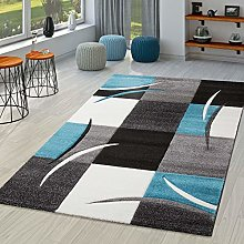 Rug Living Room Modern Nizza With Contour Cut In