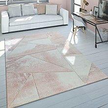 Rug Living Room Pale Pink Short-Pile Pastel