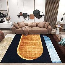 Rug living room rugs Yellow blue brown geometric