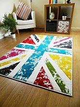 Rug Modern Designer Carpet Colourful Blue Red