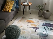 Rug Multicolour 140 x 200 cm Abstract Paint Effect