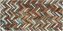 Rug Multicolour Leather 80 x 150 cm Cowhide Hand