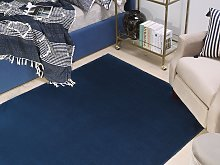 Rug Navy Blue Viscose 140 x 200 cm Hand Tufted Low