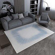 Rug non slip rug Living room blue carpet, radial