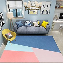 Rug non slip rug Pink blue extreme simple