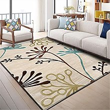 Rug non slip rugs Soft and comfortable Black brown
