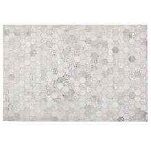 Rug Patchwork Hexagons 140 x 200 cm Cowhide